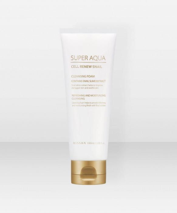 Missha Super Aqua Cell Renew Snail Cleansing Foam 100ml puhdistusaine