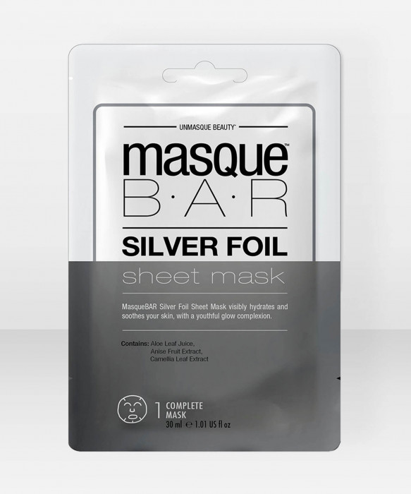 Masque Bar  Silver Foil Sheet Mask Single Sachet kangasnaamio  kasvonaamio