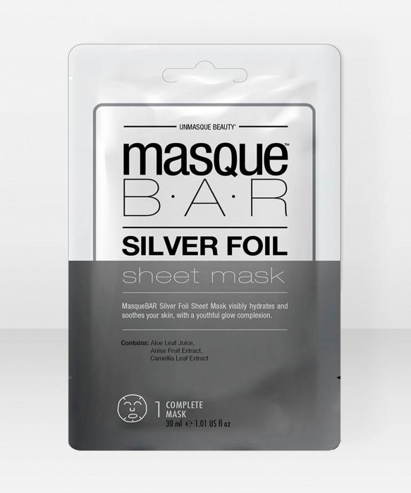 Masque Bar  Silver Foil Sheet Mask Single Sachet kangasnaamio  kasvonaamio