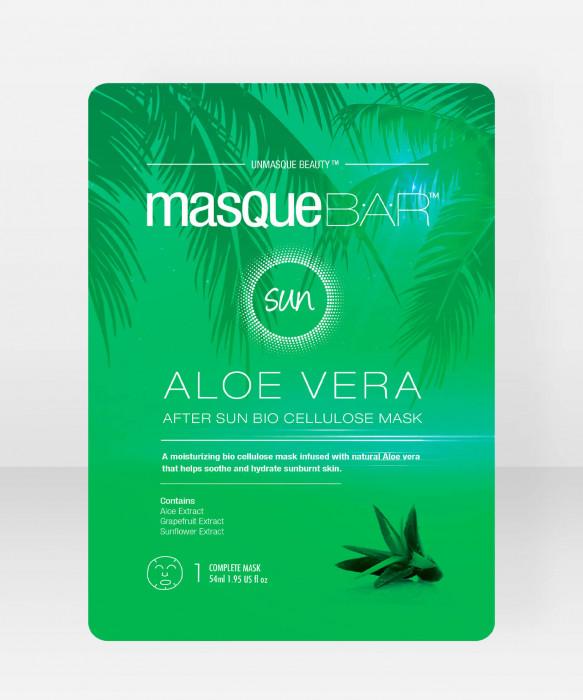 Masque Bar Aloe Vera After Sun Bio Cellulose Mask kangasnaamio  kasvonaamio