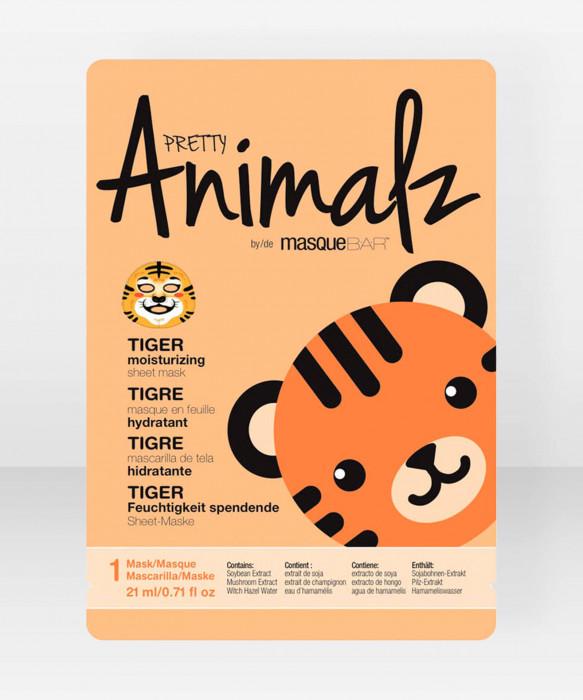 Pretty Animalz by Masque Bar  Tiger Moisturizing Sheet Mask kangasnaamio kasvonaamio