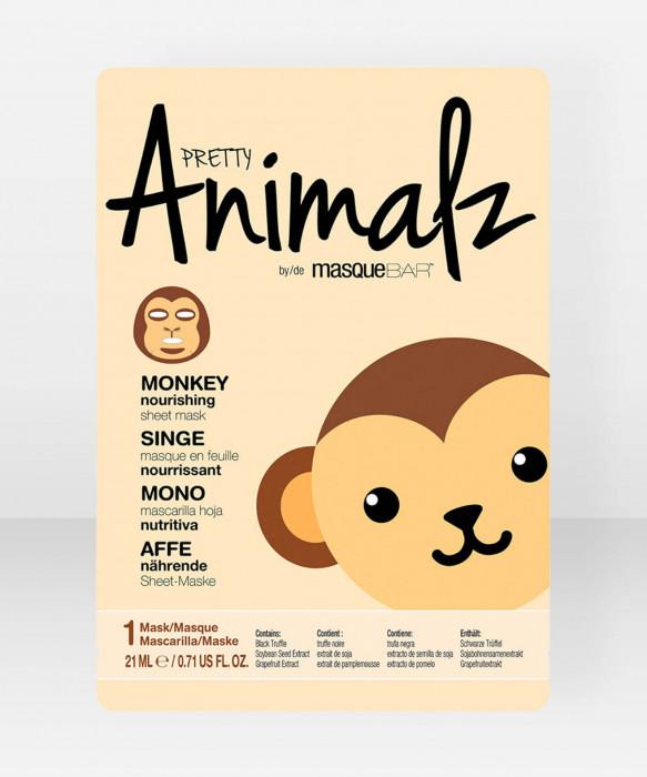 Pretty Animalz by Masque Bar  Monkey Nourishing Sheet Mask kangasnaamio kasvonaamio