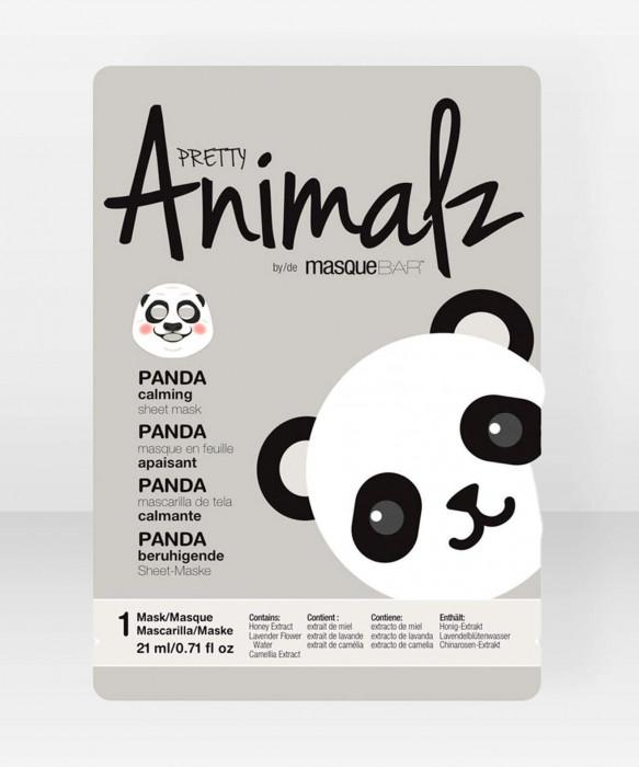 Pretty Animalz by Masque Bar  Panda Calming Sheet Mask kangasnaamio kasvonaamio
