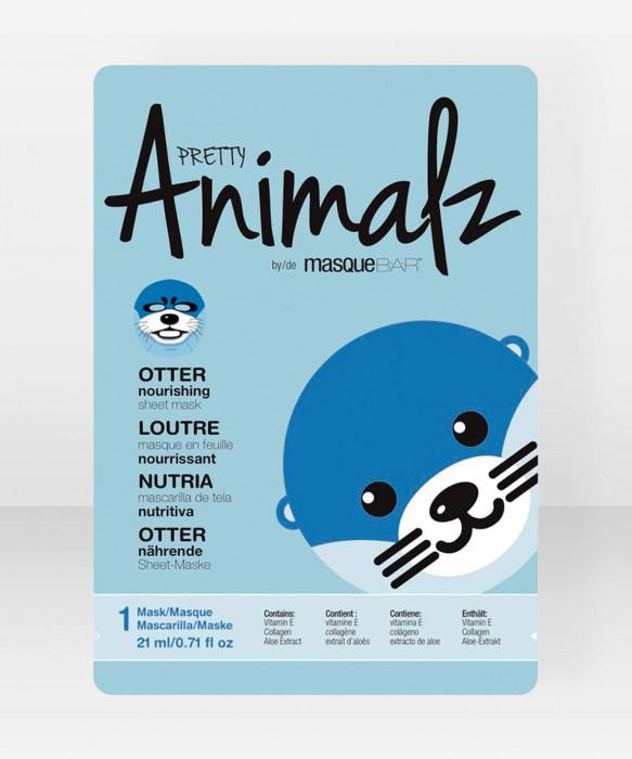 Pretty Animalz by Masque Bar  Otter Nourishing Sheet Mask kangasnaamio kasvonaamio