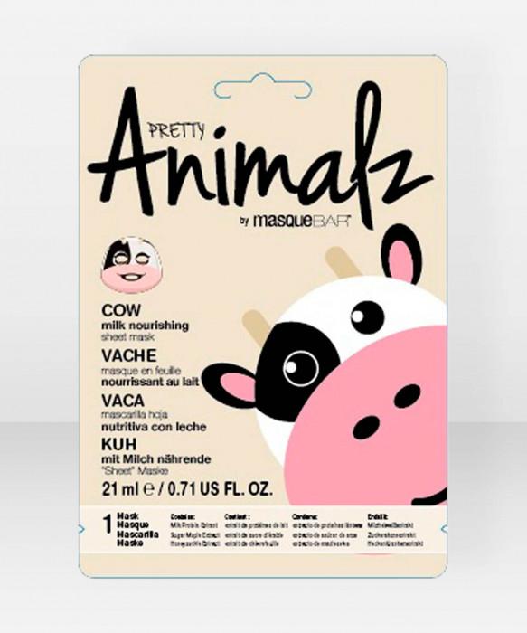Pretty Animalz by Masque Bar  Cow Milk Nourishing Sheet Mask kangasnaamio kasvonaamio