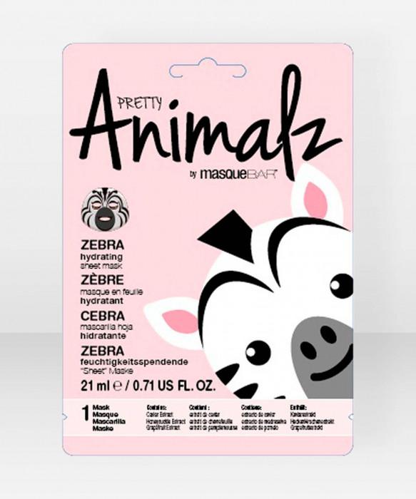 Pretty Animalz by Masque Bar  Zebra Hydrating Sheet Mask kangasnaamio kasvonaamio