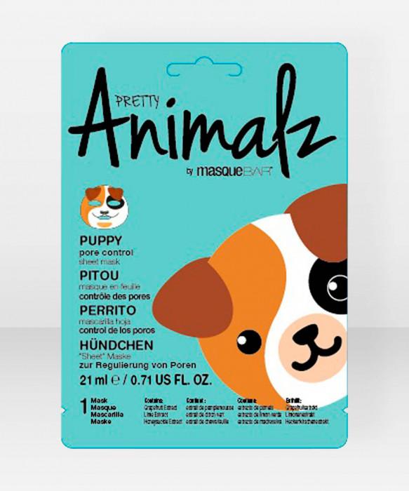 Pretty Animalz by Masque Bar  Puppy Pore Control Sheet Mask kangasnaamio kasvonaamio
