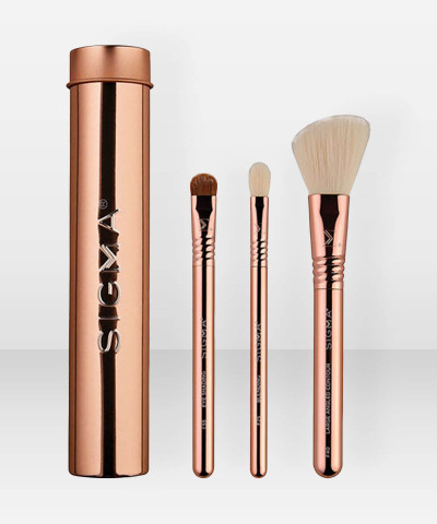 Sigma Beauty Essential Trio Brush Set Rose Gold