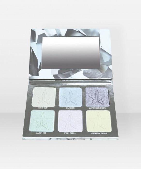 Jeffree Star Cosmetics Skin Frost Pro Palette Platinum Ice korostusväripaletti paletti korostusväri korostuspuuteri highlighter