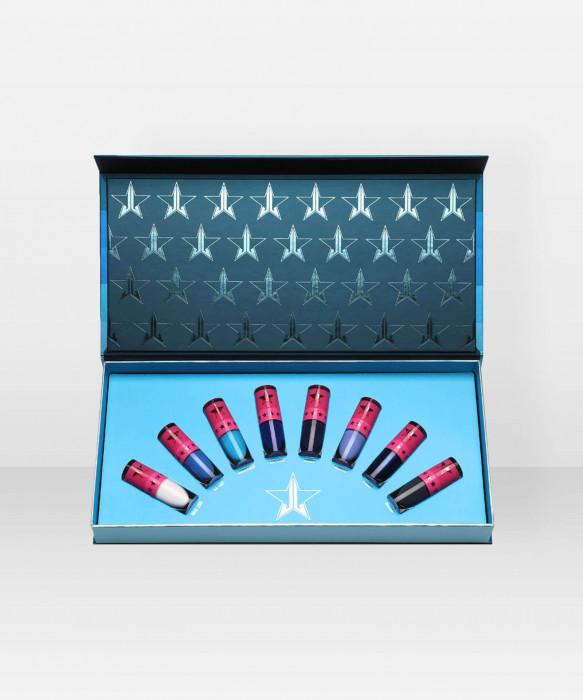 Jeffree Star Cosmetics Velour Liquid Lipstick Mini Blue Blood Bundle nestemäinen huulipuna huulipunasetti kokoelma