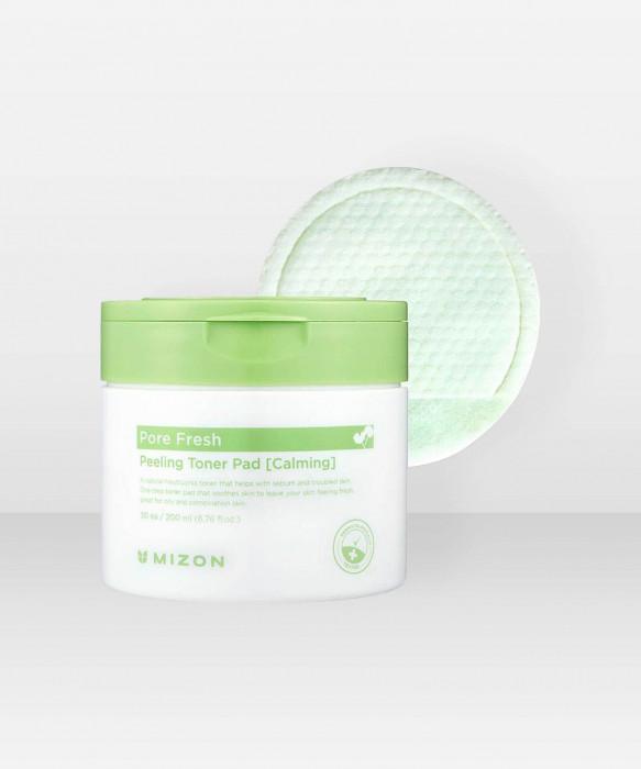 Mizon Pore Fresh Peeling Toner Pad (Calming) 200ml kuorintalaput