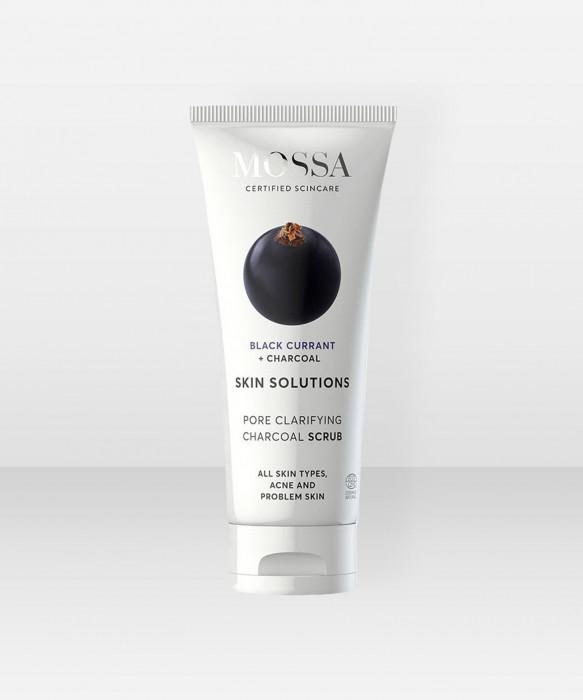 MOSSA Skin Solutions Charcoal Scrub 60ml hiilikuorinta kuorintavoide