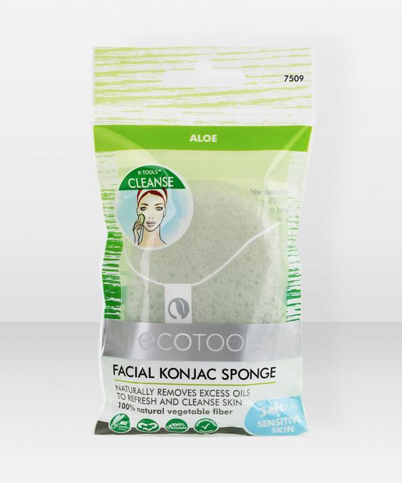 Ecotools Konjac Facial Sponge - Aloe kasvosieni konjac sieni