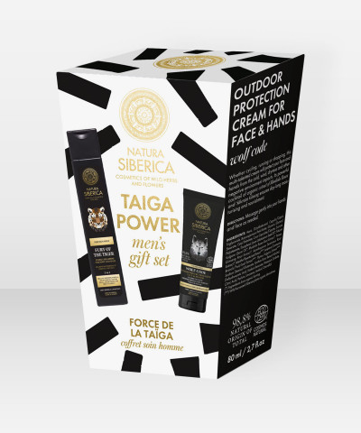 Natura Siberica Taiga Power Men's Gift Set pakkaus setti