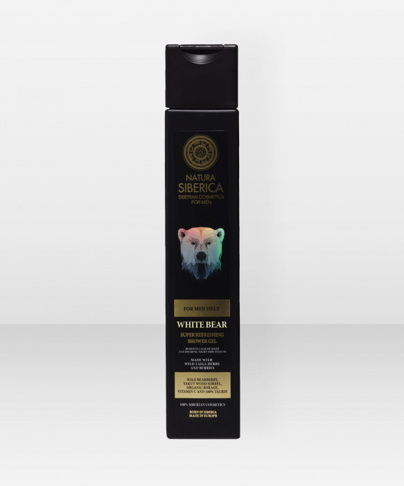 Natura Siberica MEN Super Refreshing Shower Gel White Bear 250ml suihkugeeli