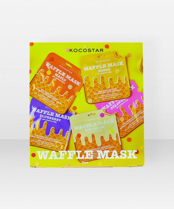 KOCOSTAR Waffle Mask Kit kangasnaamiopakkaus kasvonaamiopakkaus setti