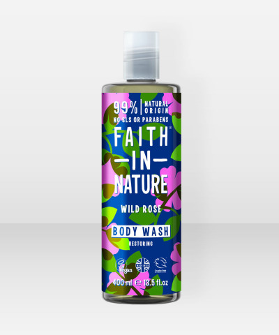 Faith in Nature Body Wash Wild Rose 400ml