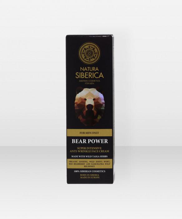 Natura Siberica MEN Super Intensive AntiWrinkle Face Cream Bear Power 50ml