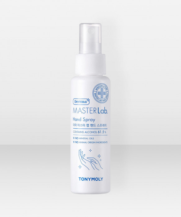Tonymoly Derma Master Lab Hand Spray -käsidesi 85ml desinfioiva käsisuihke