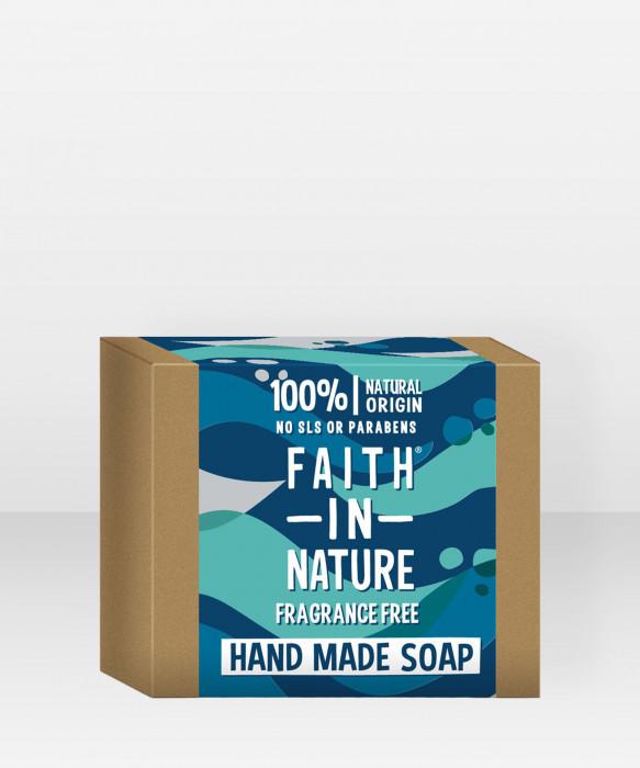 Faith in Nature Soap Fragrance Free palasaippua
