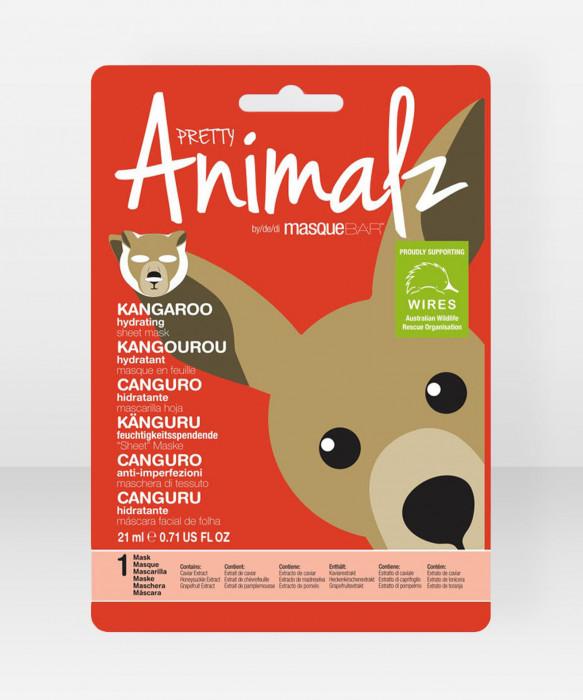 Pretty Animalz by Masque Bar Kangaroo Hydrating Sheet Mask kangasnaamio  kasvonaamio