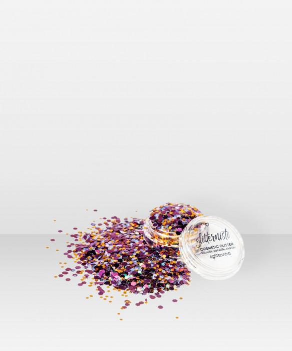Glitternisti CONFETTI 5ml Kosmeettinen glitter kasvoille hiuksille vartalolle