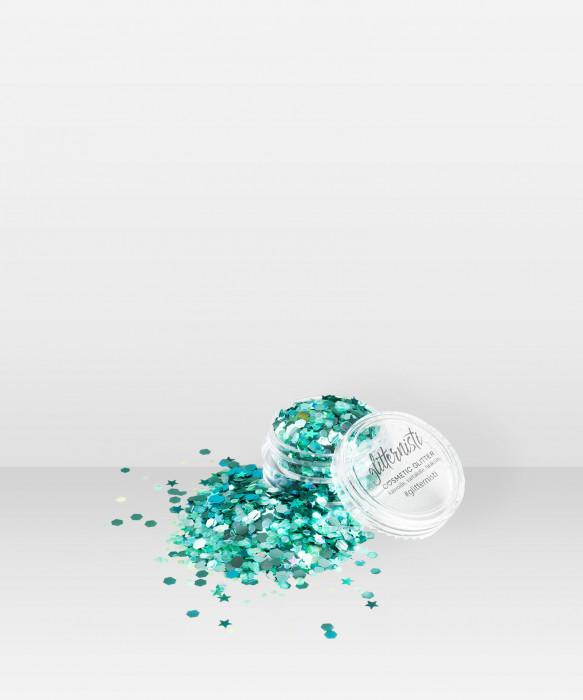 Glitternisti LEAFY 5ml Kosmeettinen glitter kasvoille hiuksille vartalolle