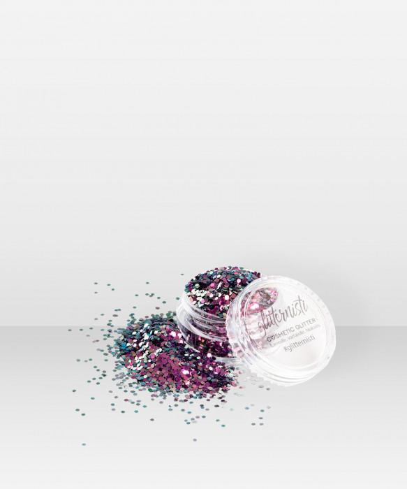 Glitternisti RAVEN 5ml Kosmeettinen glitter kasvoille hiuksille vartalolle