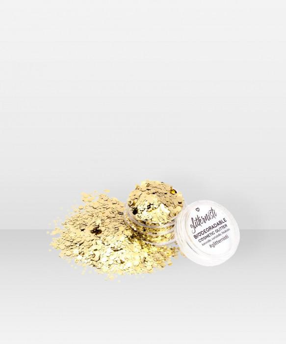 Glitternisti  Eco Chanky Gold 5ml Kosmeettinen glitter kasvoille hiuksille ja vartalolle