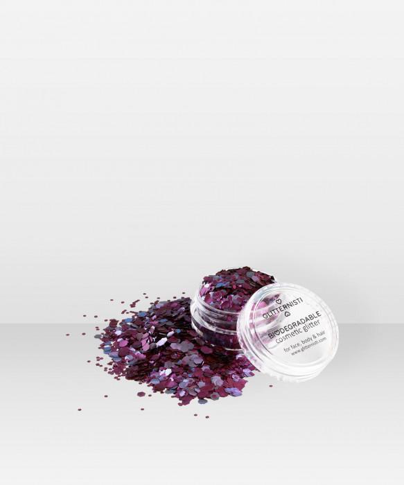 Glitternisti ECO PLUM 5ml Kosmeettinen glitter kasvoille hiuksille vartalolle