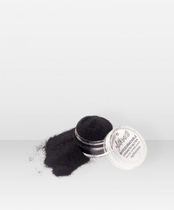 Glitternisti Eco Fine Black 5ml Kosmeettinen glitter kasvoille hiuksille ja vartalolle