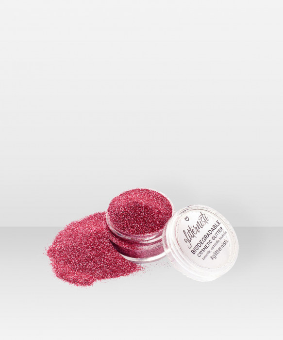 Glitternisti Eco Fine Pink 5ml kosmeettinen glitter
