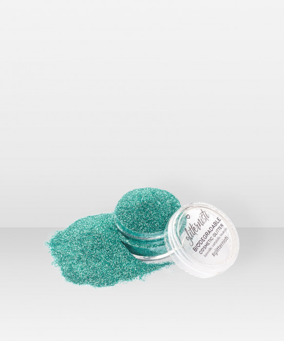 Glitternisti Eco Fine Turquoise 5ml Kosmeettinen glitter kasvoille hiuksille ja vartalolle