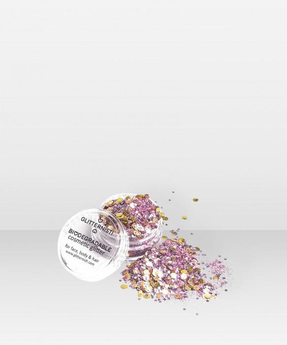Glitternisti  Eco Pink Steel 5ml kosmeettinen glitter
