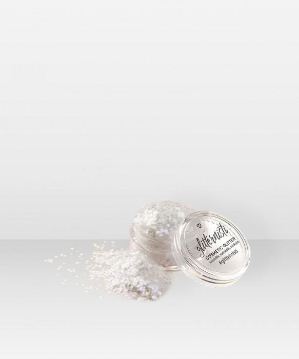 Glitternisti Iridescent WHITE 5ml kosmeettinen glitter