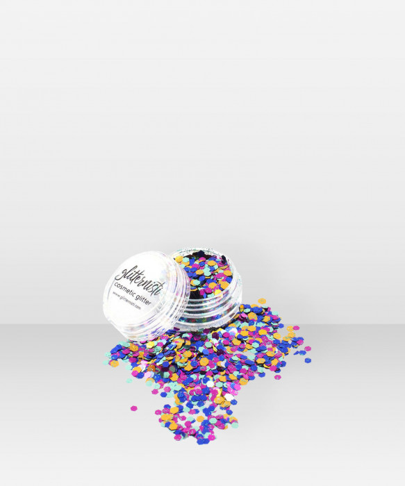 Glitternisti Rainbow Mix 5ml Kosmeettinen glitter kasvoille hiuksille ja vartalolle