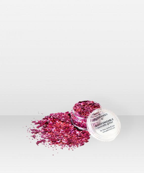 Glitternisti ECO RED VELVET 5ml Kosmeettinen glitter kasvoille hiuksille vartalolle