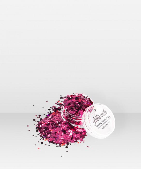 Glitternisti Ruby 5ml kosmeettinen glitter