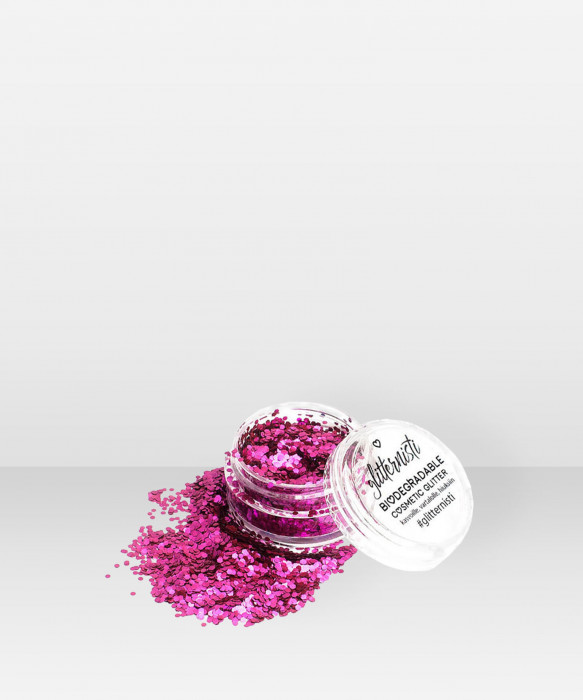 Glitternisti  Eco Chanky  Pink 5ml kosmeettinen glitter