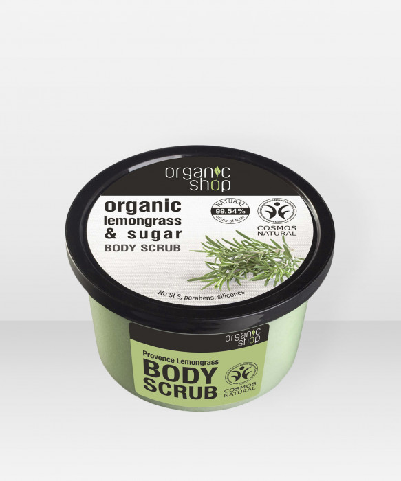 Organic Shop Provence Lemongrass sokerikuorinta 250 ml vartalokuorinta