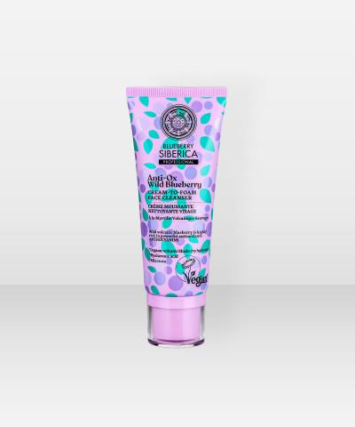 Natura Siberica Anti-OX Wild Blueberry Cream-to-foam Face Cleanser 100 ml
