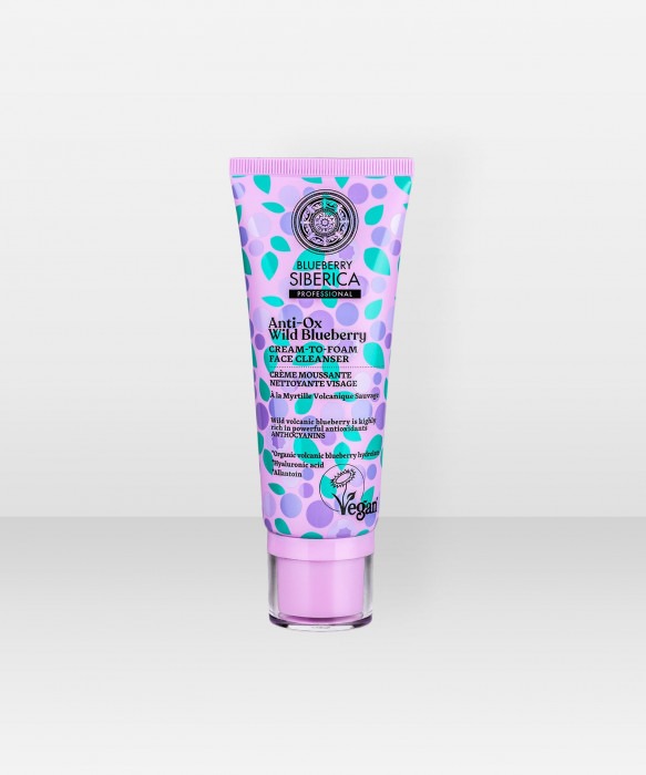 Natura Siberica Anti-OX Wild Blueberry Cream-to-foam Face Cleanser 100 ml puhdistusvoide