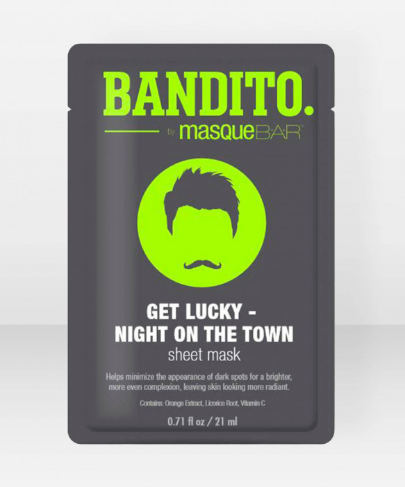 Bandito by Masque Bar Get Lucky – Night On The Town Sheet Mask kangasnaamio kasvonaamio