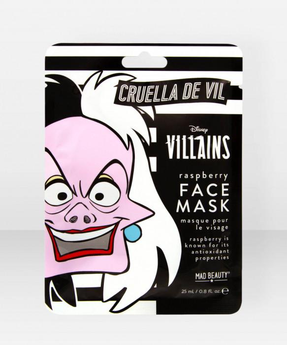 Mad Beauty Disney Villains Sheet Face Mask Cruella kasvonaamio kangasnaamio