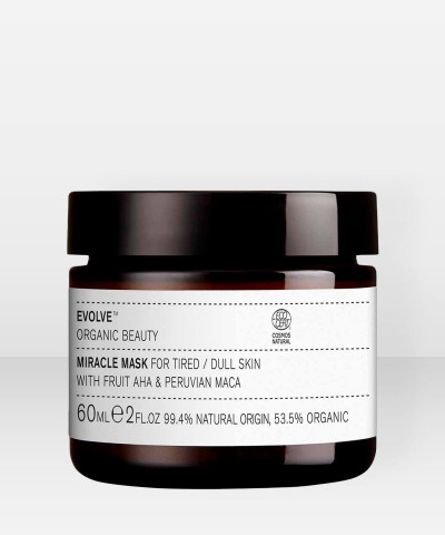 Evolve Organic Beauty Miracle Mask AHA Kuoriva Hedelmähapponaamio 60ml
